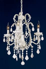 marie therese cream glass droplet french 3 arm chandelier light for at