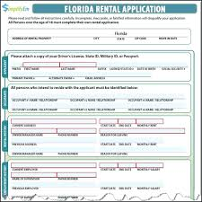 tenant application form florida template lease agreement florida template tenant application form