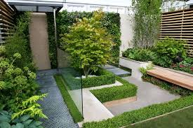 Lawn & Garden:Fresh Green Japanese Garden Design Ideas With Crop Circle On  Gravel Fiels