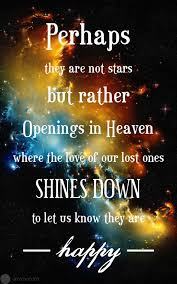 Quotes About Lost Loved Ones In Heaven Adorable Perhaps They Are Not Stars But Rather Openings In Heaven Where The