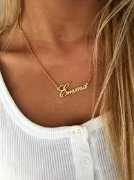 gold name necklace custom name pendant
