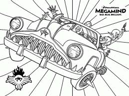 Megamind Awesome Car Coloring Pages Bulk Color