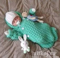 <b>Спальный мешок для новорожденного</b>, вязаный спицами ...