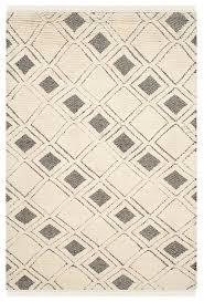safavieh kenya kny805a geometric rug ivory black scandinavian area rugs by arearugs