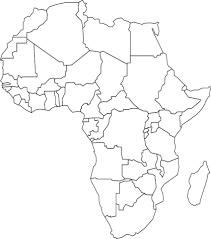 Kaart Van Afrika Kleurplaat Gratis Kleurplaten Printen