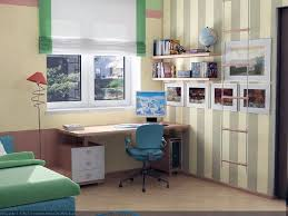 ... Small Study Desk For Kids With Blue Wall Paint Color And White Small Study  Desk ...