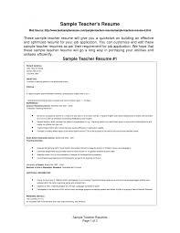 Teaching Job Resume Teaching Cv Template Resume Template Cover