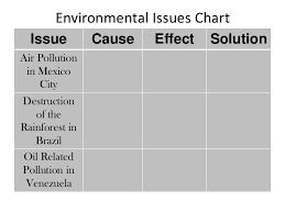 Environmental Issues Chart