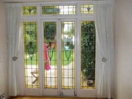 stained glass patio doors