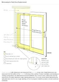6068 sliding glass door dimensions standard width r widths patio s slidin