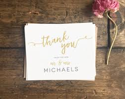 thank you cards etsy Custom Photo Thank You Cards Wedding wedding thank you cards gold modern wedding thank you note cards custom wedding gift Wedding Thank You Card Designs