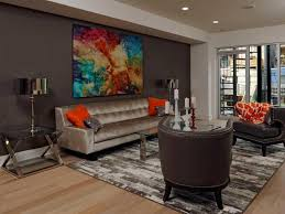 image of nice accent wall living room