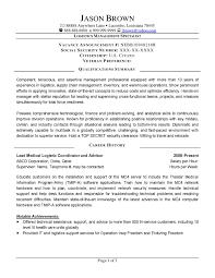 Sample Resume For A Logistics Management Specialist Fresh Federal