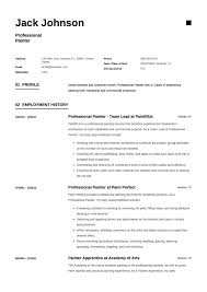 12 Commercial Painter Resume Sample S 2018 Free Downloads