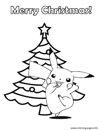 Small Picture pokemon merry christmas Coloring pages Printable