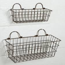 metal wall baskets hanging for plants wire storage