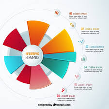 Colorful Pie Chart Infographic Vector Free Download