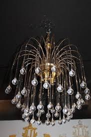 hollywood regency vintage italian murano glass waterfall chandelier tear drop brass italy for