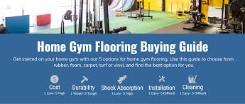 home gym ing guide 5 options for home gym flooring