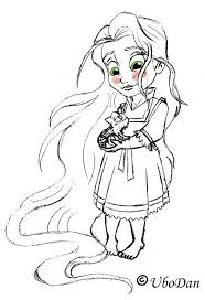 Small Picture Disney Princess Rapunzel Coloring Pages Coloring Coloring Pages