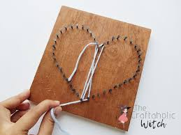 diy heart string art an easy string