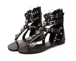 Bdfjylh New Cross Skull Flat Sandals <b>Women</b> Summer <b>Shoes</b> ...