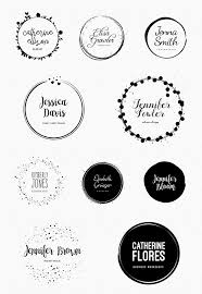 templates for logo feminine logo templates circle edition