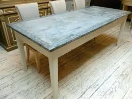 zinc top table zinc top round dining table matt and home design regarding decor 5 zinc