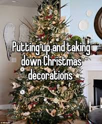 The simple joy of putting up a Christmas tree is lost on this user, who