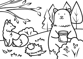 Small Picture Autumn Animals coloring page Free Printable Coloring Pages