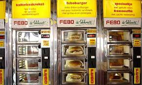 Vending Machine Amsterdam Enchanting Cheeseburger Vending Machine In Amsterdam Imgur