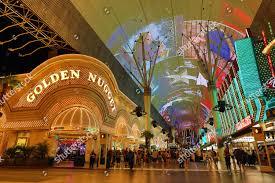 Las Vegas Light Show 2018 Neon Lights Casinos Light Show Fremont Street Editorial
