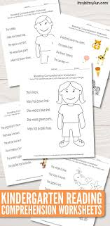 Many times, a student is lacking in a few of these qualities and. Kindergarten Reading Comprehension Worksheets Itsybitsyfun Com