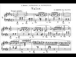 chopin spring waltz sheet music chopin waltz op 64 no 2 rubinstein