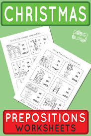 Christmas Preposition of Place Worksheets - Itsy Bitsy Fun