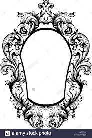Mirror frame vector Rectangle Mirror Baroque Mirror Frame Vector Imperial Decor Design Elements Rich Encarved Ornaments Line Art Alamy Baroque Mirror Frame Vector Imperial Decor Design Elements Rich