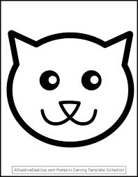 cat face drawing for pumpkin