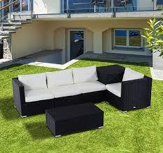 pcs rattan outdoor corner sofa set