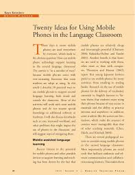 ideas for using mobile phones in language classroom