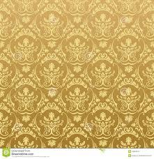 Naadloos Behang Bloemen Uitstekend Goud Als Achtergrond Vector