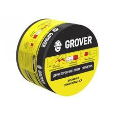 <b>Лента</b>-<b>герметик</b> двусторонняя <b>Grover битумная</b> черная, 75 мм (3 м)