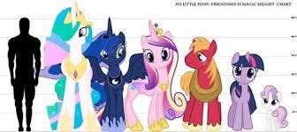 Pony Height Chart My Little Pony Height Chart Mlp Pony My Little Pony