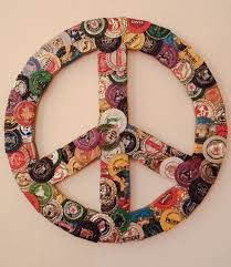 Upcycled Wall Art Upcycled Wall Art Bottle Cap Peace Sign