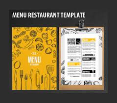 Restaurant Menu Design Templates 35 Restaurant Menu Templates Free Sample Psd Docs Pages Free