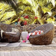 wicker nest chair rattan chairs courtesy of west elm