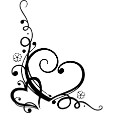 Small Picture Decorative Love Heart Floral Wall Art Sticker Wall Decal Transfers