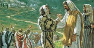 Image result for [pictures of Jesus and the thankful leper