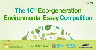 the th eco generation environmental essay competition youth  picture