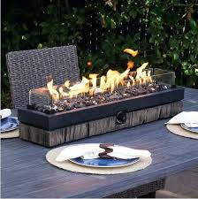 patio table with gas fire pit outdoor tabletop gas fire pit patio table top propane rustic