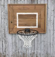Wooden Hoop Game Rustic Wooden Backboard with Basketball Hoop 92